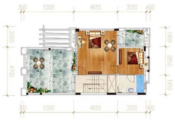 富力湾177平米别墅户型图
