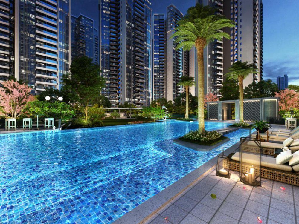 富康·锦绣壹号园林泳池景观