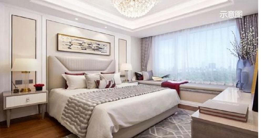 中洲河谷花园卧室效果图