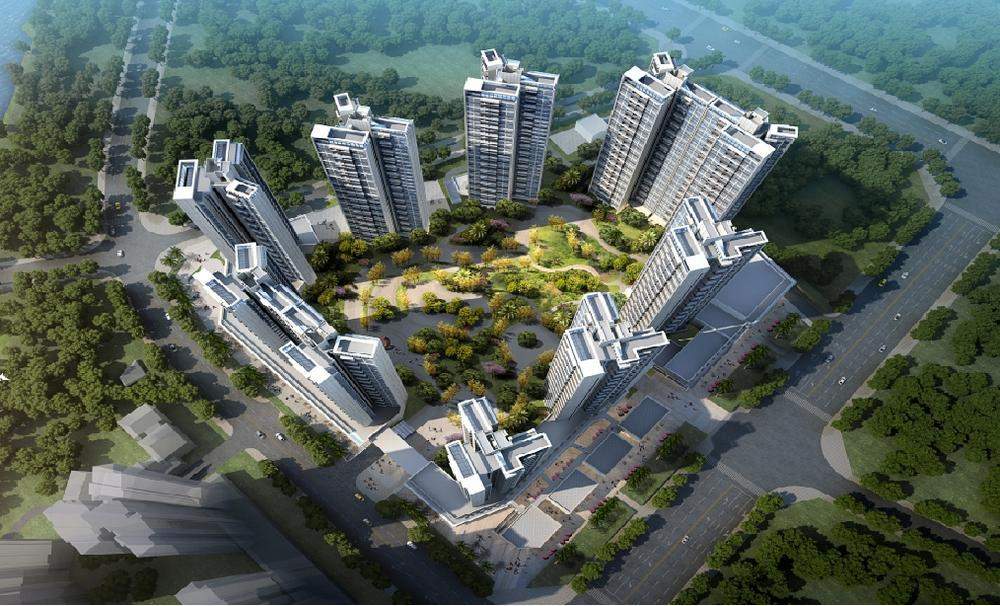 中洲河谷花园楼栋鸟瞰图