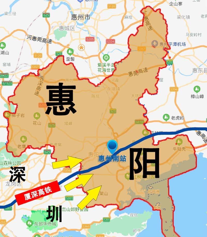 惠阳和深圳分界线