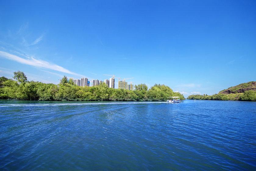 淡澳河远看碧桂园太东天樾湾美景