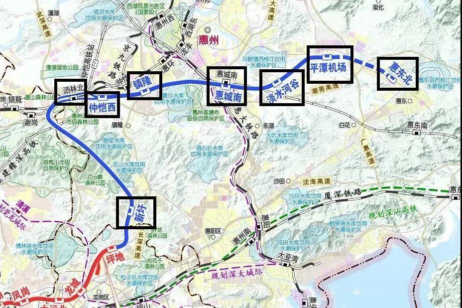 深惠城际惠州段示意图