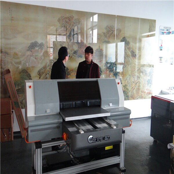 Shandong uv printer user Mr. Tian