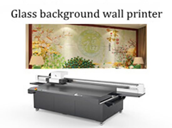 Glass background wall printer