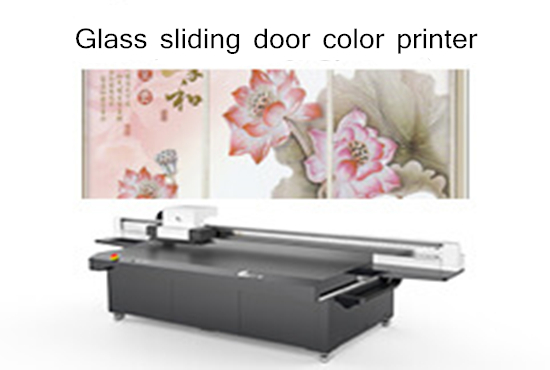 Glass sliding door color printer