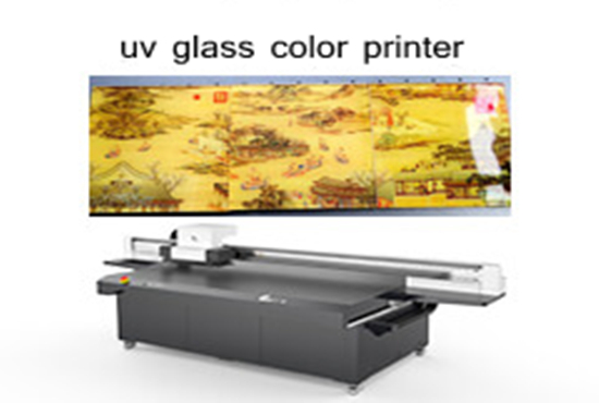 uv glass color printer