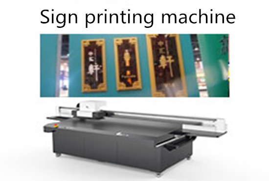Sign printing machine