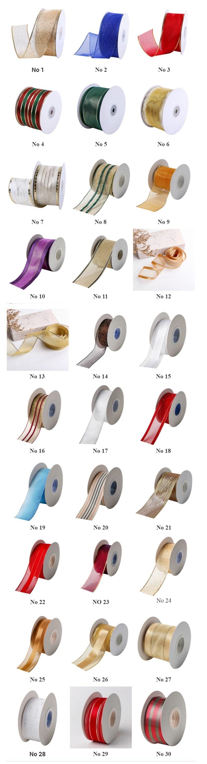 Wire edge organza ribbon