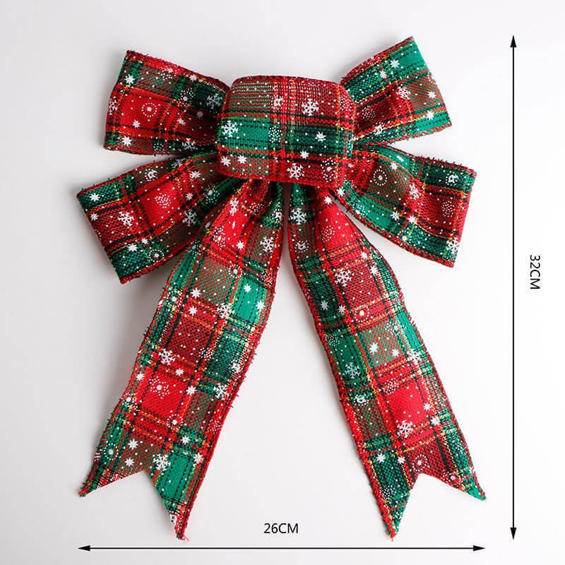 Burlap ribbon bow (2)