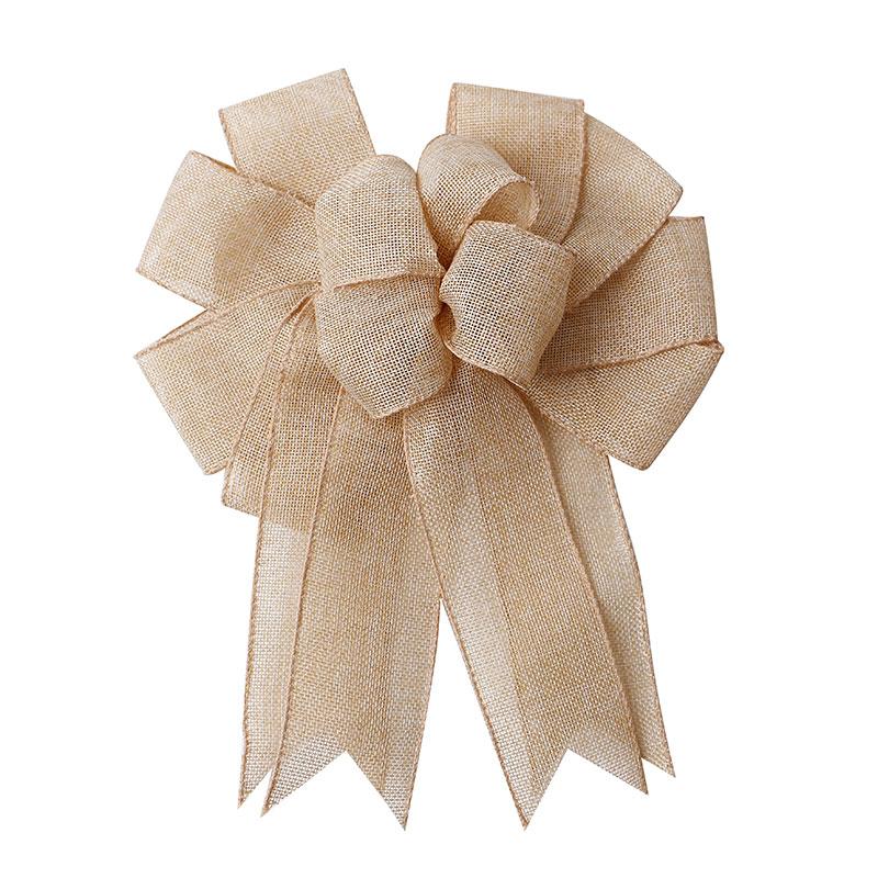 Ribbon Factory Wholesale Natural Burlap Ribbon Bow Christmas Wreath Bow