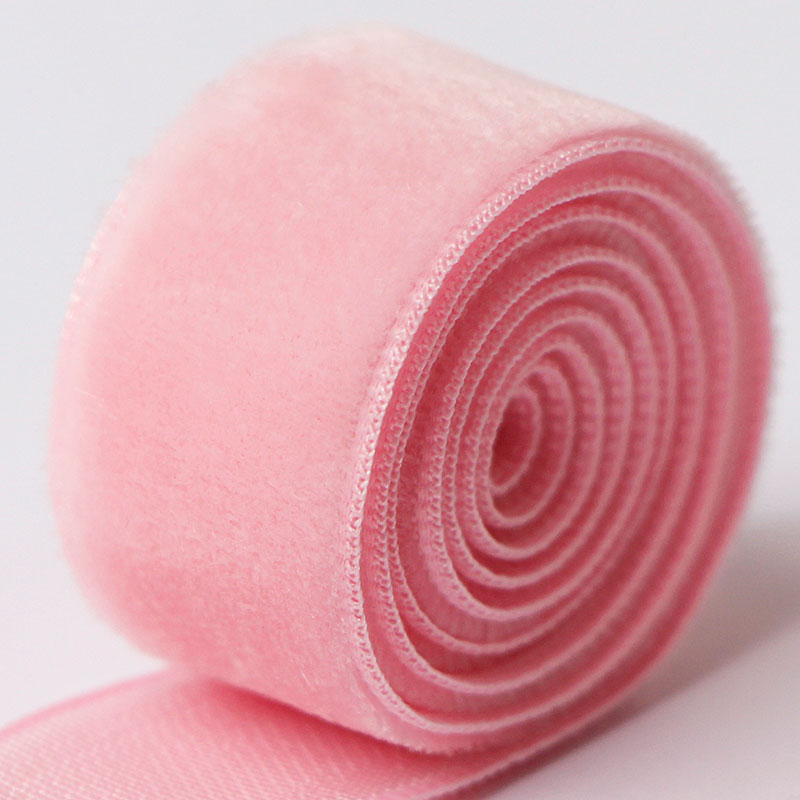 16mm pink velvet ribbon for gift wrapping,hair bows