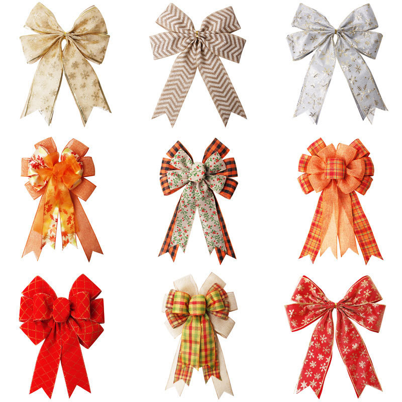 Custom ribbon bow for Christmas