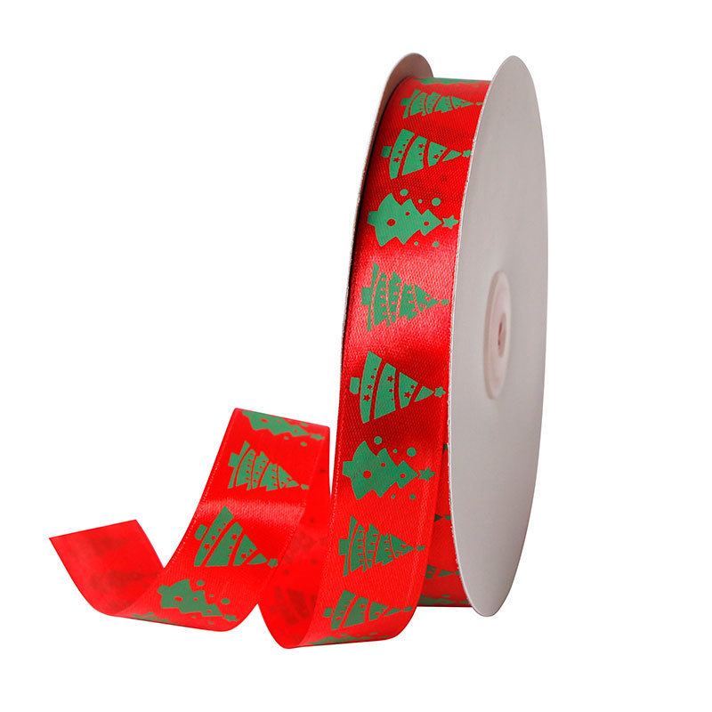 red and green Christams ribbon
