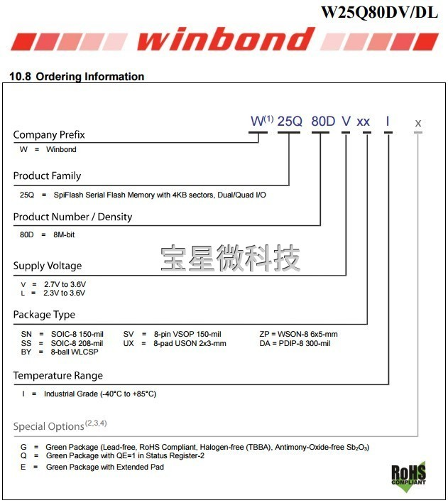 W25Q80DVSSIG-GUIZE