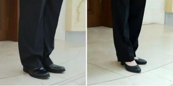 法院法官长裤、皮鞋穿着示范