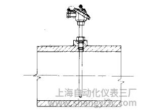 装配式热电偶在水平管道上的安装图片