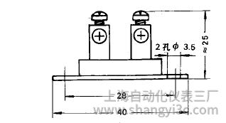 铠装热电偶简易式接线图片及尺寸