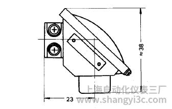 铠装热电偶小接线盒式接线图片及尺寸