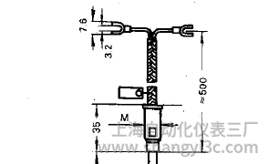 铠装热电偶补偿导线式接线图片及尺寸