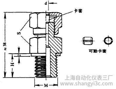 化工用热电偶、热电阻可动卡套螺纹图片尺寸