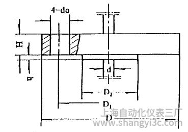 化工用热电偶、热电阻固定法兰图片尺寸