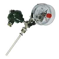 WSS-481带热电偶/阻温度变送器双金属温度计