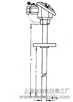 WRE-420A固定法兰热电偶安装图片