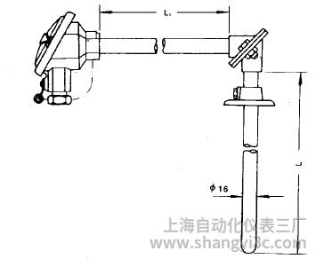 WRE-520直角形热电偶安装图片