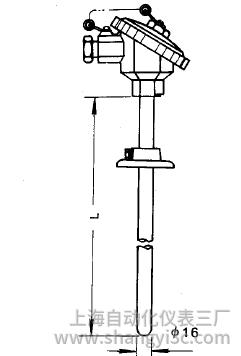WRN-330活动法兰热电偶安装图片