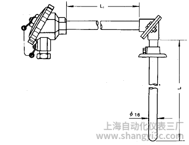WRN-530直角形热电偶安装图片