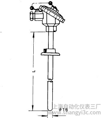 WRE-330活动法兰装配式热电偶安装图片