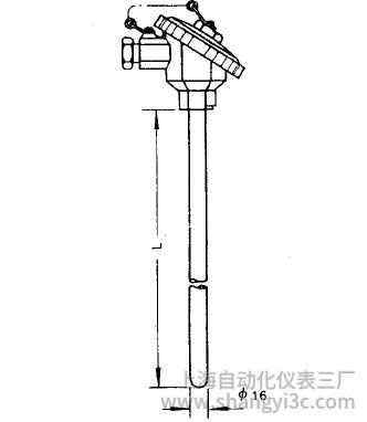 WRN-130无固定防水接线盒热电偶安装图片