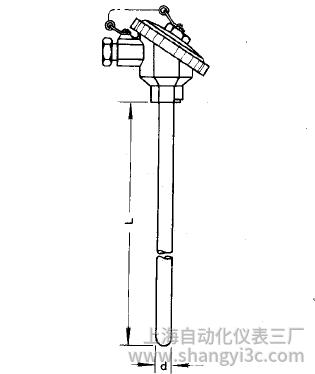 WZP-131无固定装配式热电阻安装图片