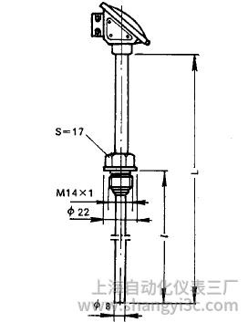WZP-280固定螺纹小接线盒式热电阻安装图片