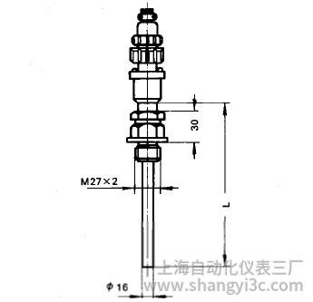 WZPM-267固定螺纹插座式热电阻安装图片