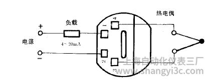 SBWR-2360常规型热电偶温度变送器接线图