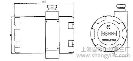 SBWZ-2464智能数显型热电阻温度变送器安装图片
