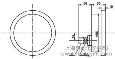 Y-151A-Z半钢耐振压力表(0-1.6MPa轴向型)安装图片