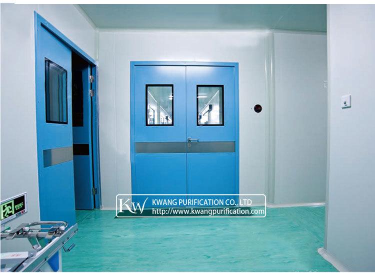Powder Coated Steel Cleanroom Double Door