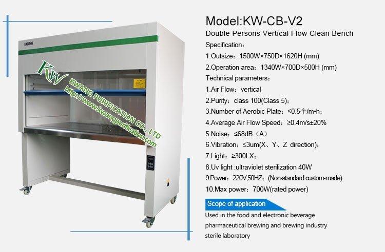 Double Person Vertical Laminar Flow Clean Bench