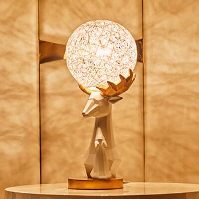 女友礼物:手工藤球折纸鹿台灯