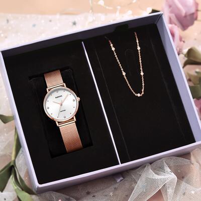 女友礼物:雷诺女士手表手链礼盒