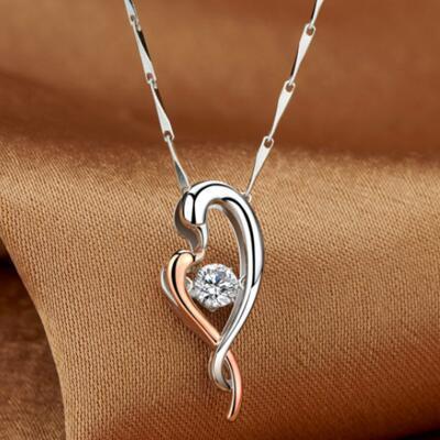 女友礼物:天鹅之吻铂金项链
