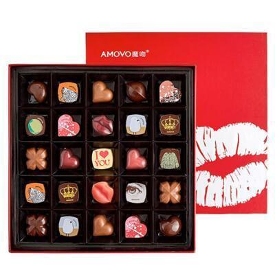 送女朋友的礼物:魔吻绯色之吻高端巧克力礼盒