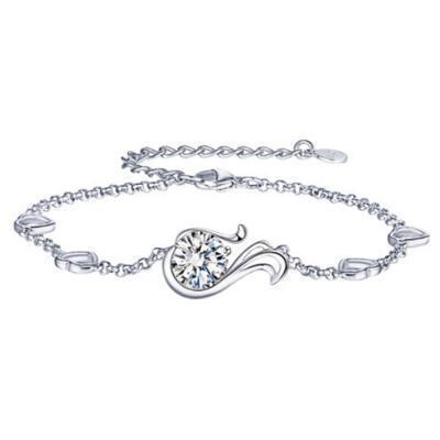 女朋友的礼物:十二星座纯银手链