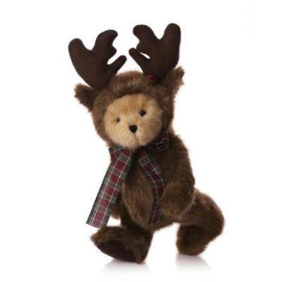 送女朋友的礼物:麋鹿泰迪熊毛绒公仔