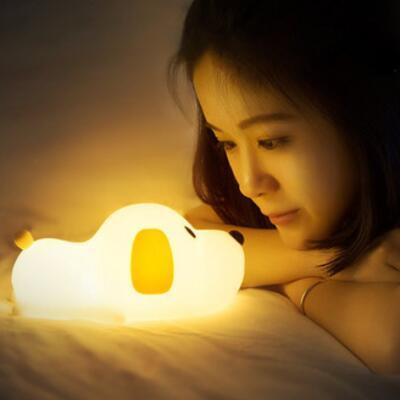 送女朋友的礼物:趴趴狗硅胶小夜灯