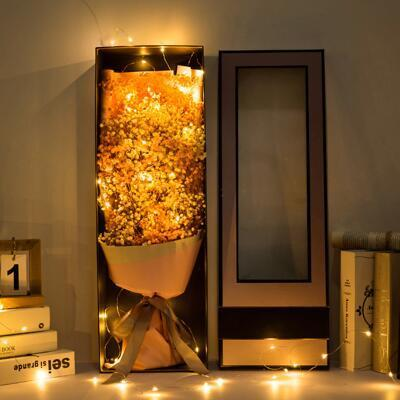 送女朋友的礼物:满天星干花花束礼盒