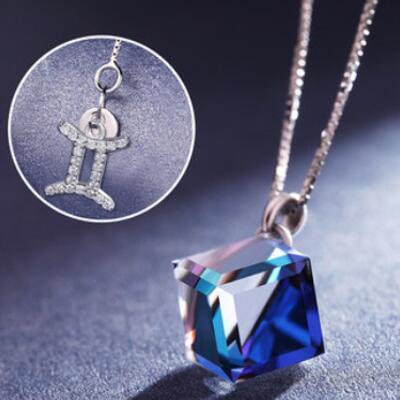 送女朋友的礼物:十二星座元素水晶项链